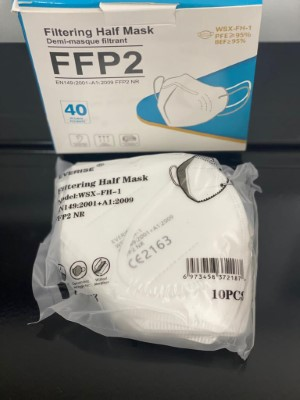 masque de protection ffp2 - boîte de 25