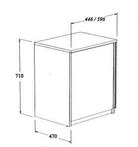 Meuble std 1 porte 45 cm coop labo for Coop meubles