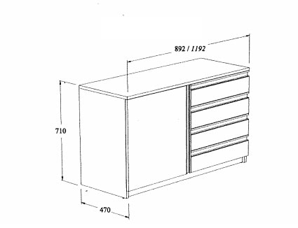 Meuble std mixte 90 cm coop labo for Coop meubles