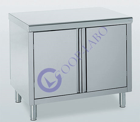 meuble inox 2 portes 700x1000 mm coop labo