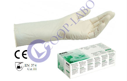 GANTS NITRILE BLANC LONG NP x100 7/7.5